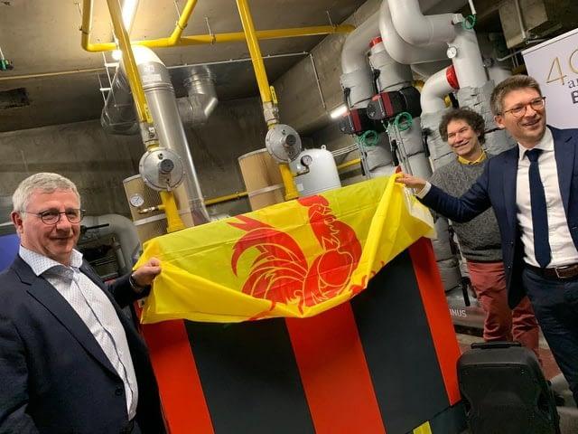 Le Foyer Namurois inaugure sa nouvelle chaudière aux Balances